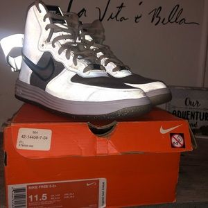 Men Nike Lunar force 1 High Metallic sil